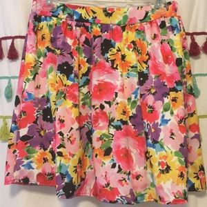Every multi color floral skirt
